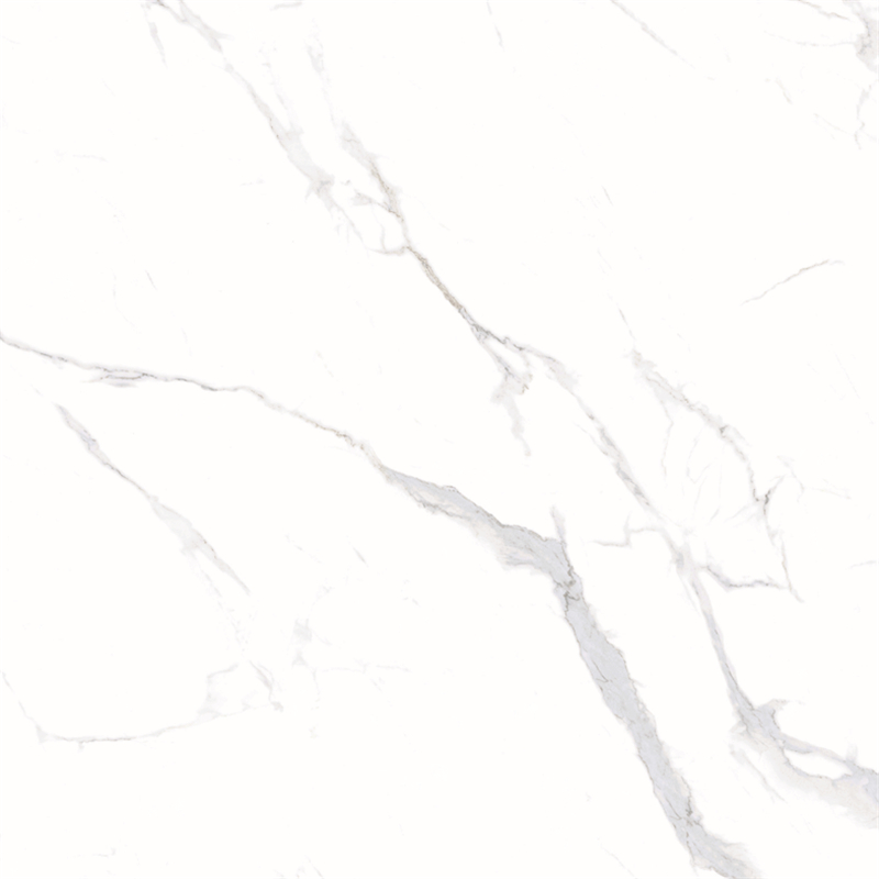 60x60 / 80X80 Carrara White Color Bathroom Floor Tile Soft Polished/ Polished Finish Marble Look Tiles SJ66G0C06T/M-2