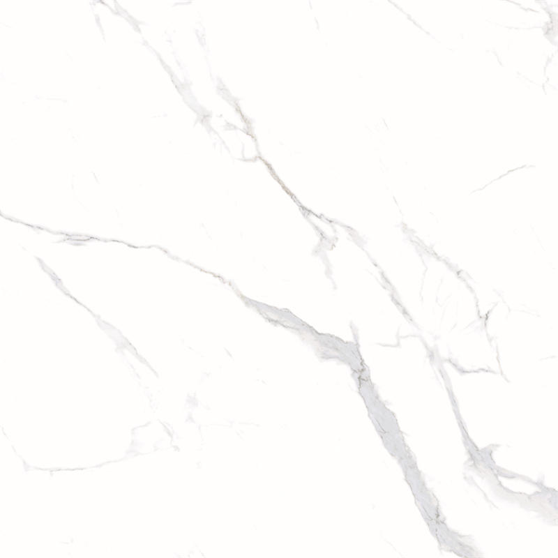 60x60 / 80X80 Carrara White Color Bathroom Floor Tile Soft Polished/ Polished Finish Marble Look Tiles SJ66G0C06T/M