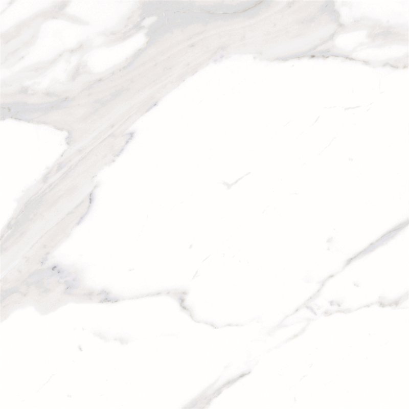 60x60 / 80X80 Carrara White Color Bathroom Floor Tile Soft Polished/ Polished Finish Marble Look Tiles SJ66G0C06T/M-3