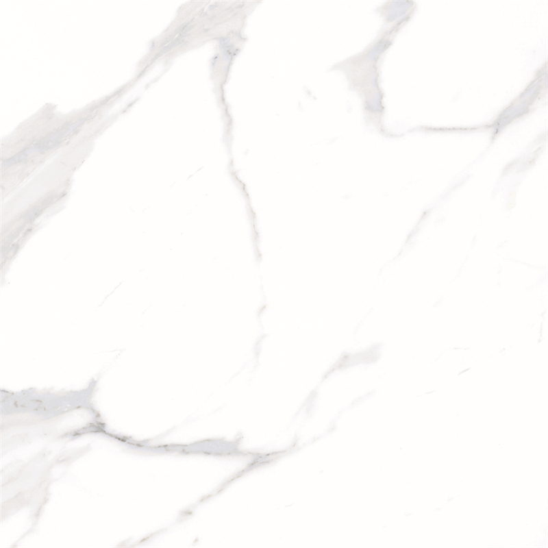 60x60 / 80X80 Carrara White Color Bathroom Floor Tile Soft Polished/ Polished Finish Marble Look Tiles SJ66G0C06T/M-5