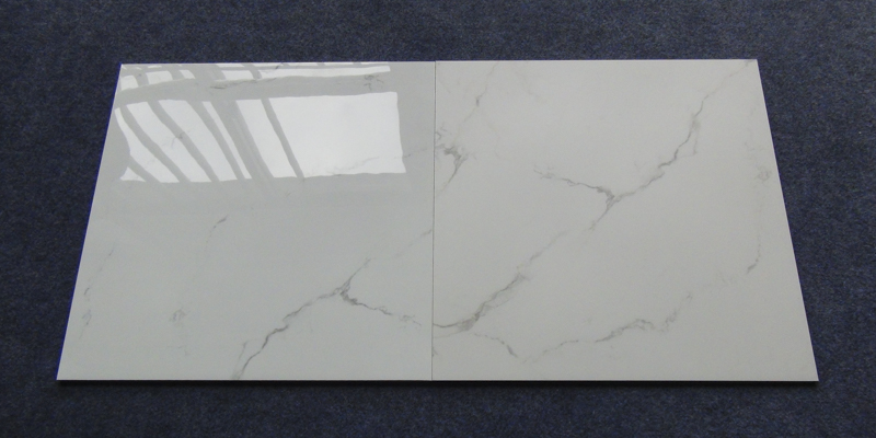 60x60 / 80X80 Carrara White Color Bathroom Floor Tile Soft Polished/ Polished Finish Marble Look Tiles SJ66G0C06T/M-6