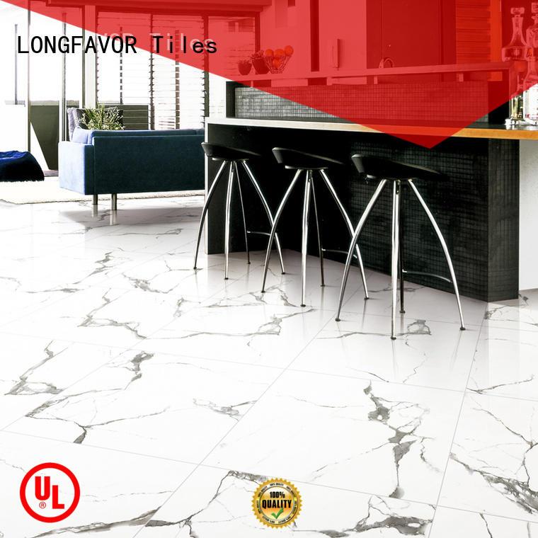 LONGFAVOR series white porcelain tile strong sense Apartment