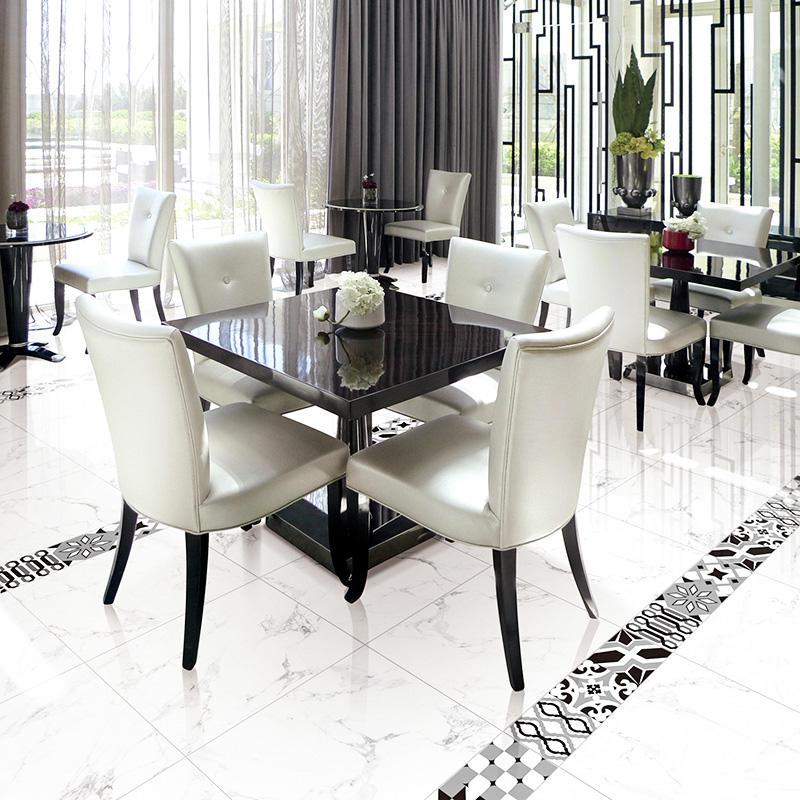 Inkjet Snow White Marble Series Warehouse Flooring Porcelain Tiles X6PT04T