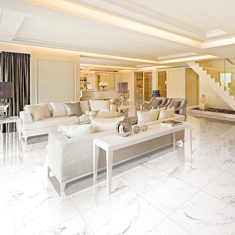 LONGFAVOR Inkjet Snow White Marble Series Warehouse Flooring Porcelain Tiles RC66G0A04T Inkjet Snow White Marble Tiles image18