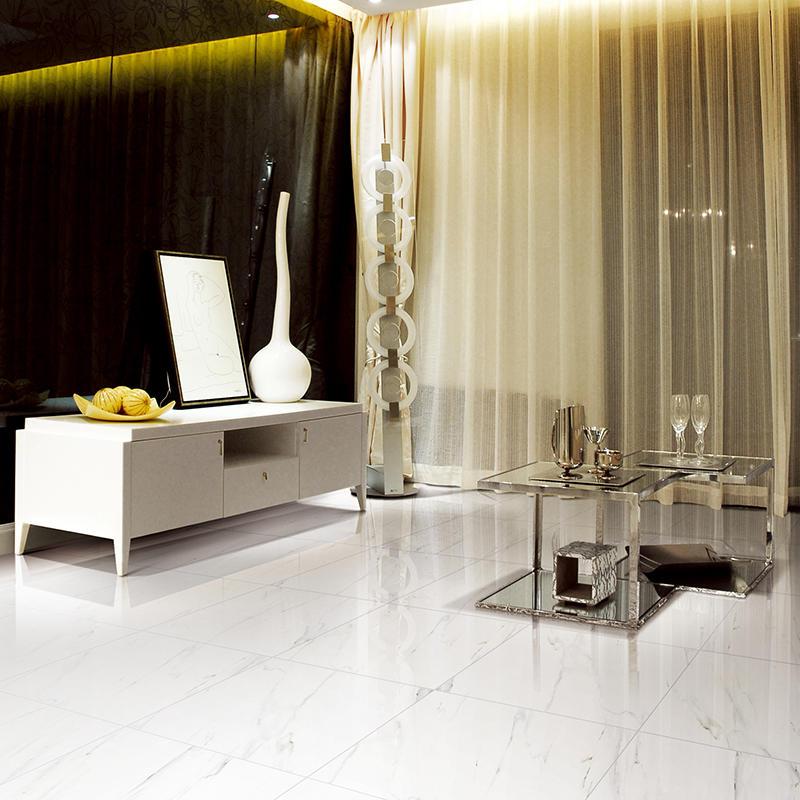 Inkjet Snow White Marble Series Shopping Mall Porcelain Tiles X6PT07T