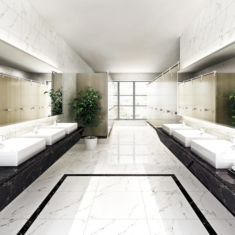 LONGFAVOR Inkjet Snow White Marble Series House Flooring Porcelain Tiles RC66G0A82T Inkjet Snow White Marble Tiles image14