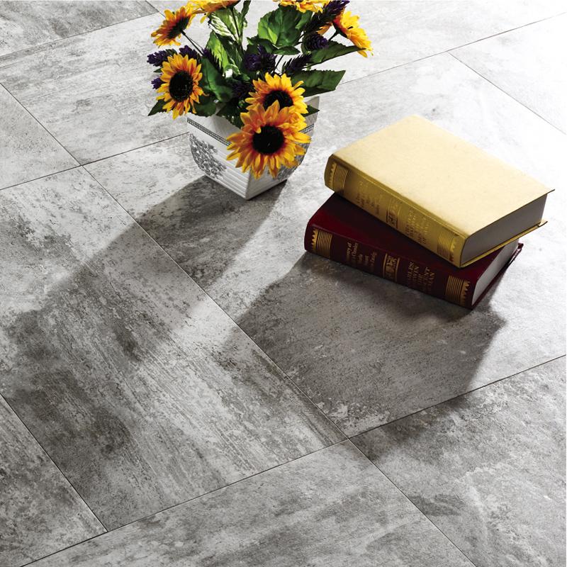 LONGFAVOR 60x60cm Commercial Grade Grey Color Cement Rustic Glaze Porcelain Indoor Tile RC66R0A02W Inkjet Cement Floor Tiles image15