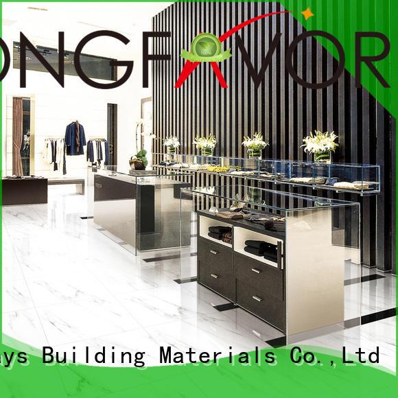 LONGFAVOR new design white porcelain tile excellent decorative effect Hotel