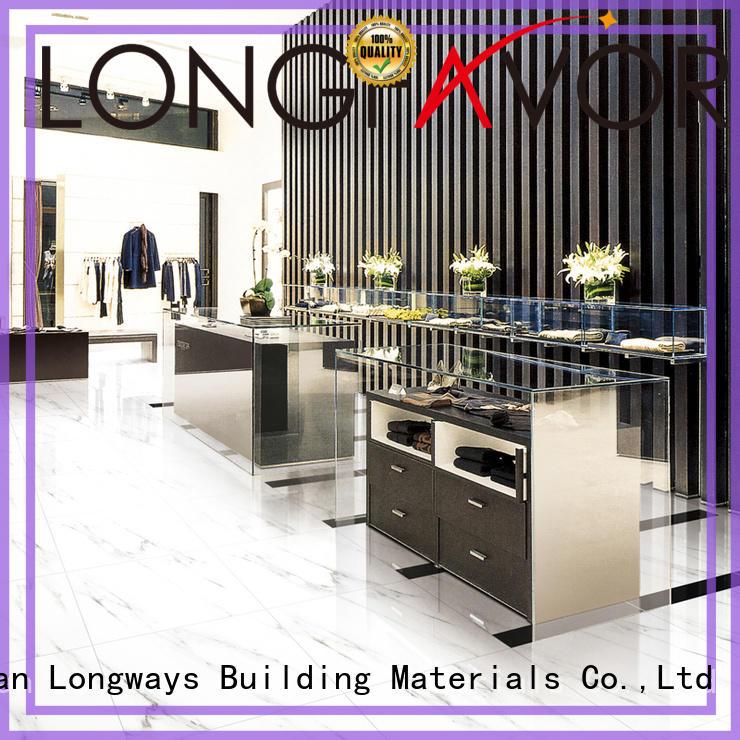 trendy Custom floor classical glazed ceramic tile LONGFAVOR dh156r6a15