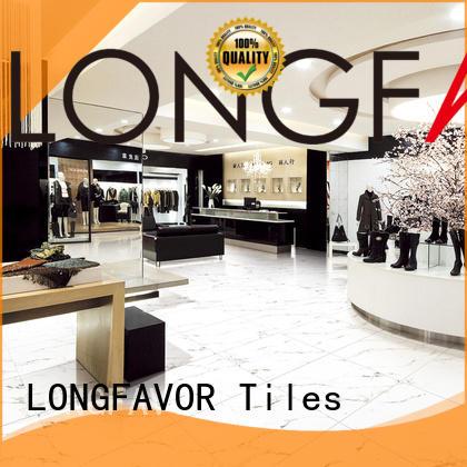 LONGFAVOR new design white porcelain tile hardness School