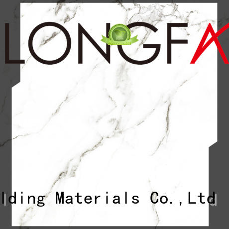 LONGFAVOR Brand white tile polished glazed ceramic tile