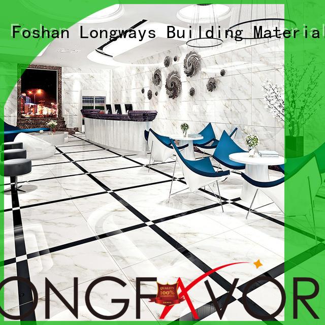 LONGFAVOR wooden porcelain marble tile excellent decorative effect Hotel