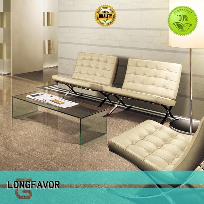 LONGFAVOR white polished tiles