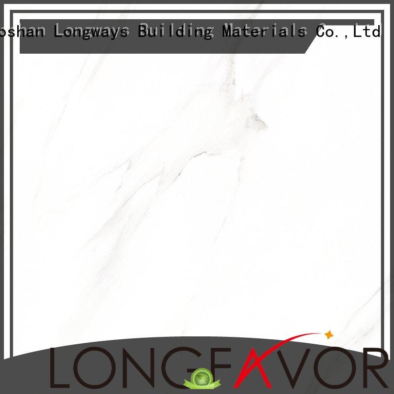 LONGFAVOR series white glazed ceramic tile inkjet snow