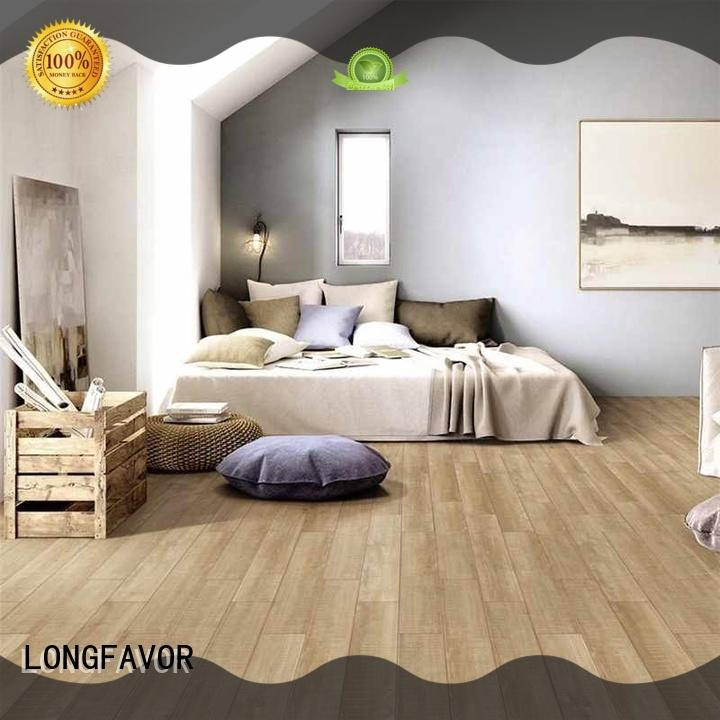 LONGFAVOR low price porcelain hardwood tile ODM Apartment