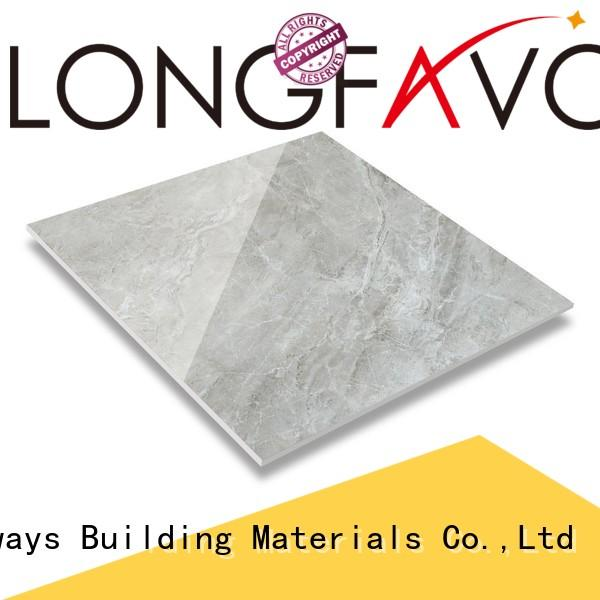 LONGFAVOR crystallized glass ceramic bathroom floor tiles excellent decorative effect Hotel