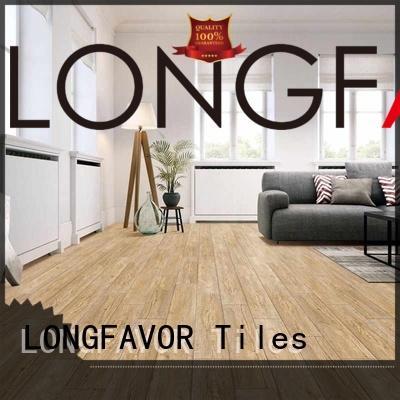 LONGFAVOR low price wood texture floor tiles ODM Hotel