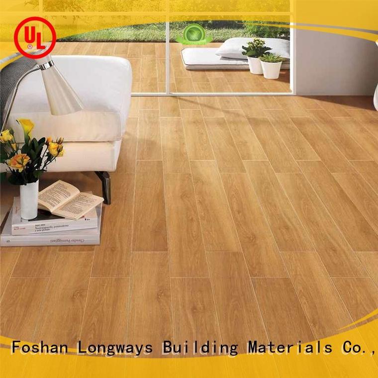 LONGFAVOR dh158r6b16 ceramic tile wood look planks supplier Apartment
