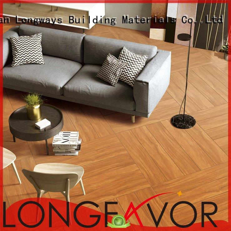 Hot wood look tile cost LONGFAVOR Brand