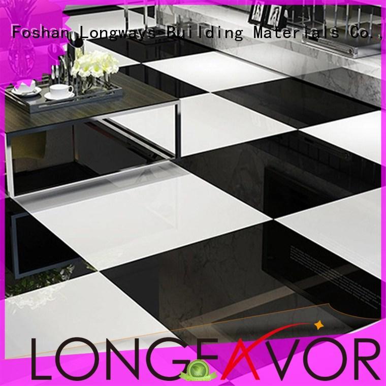 customized white polished porcelain tiles double oem Shopping Mall