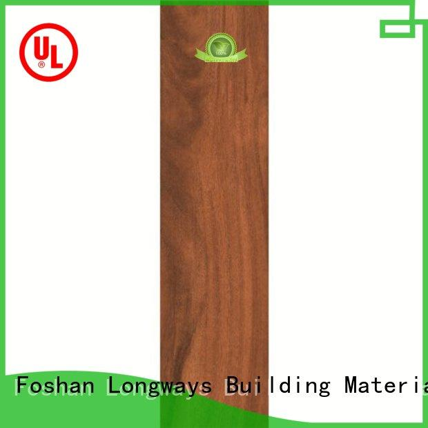 glossiness wooden style floor tiles bathroom free sample Super Market