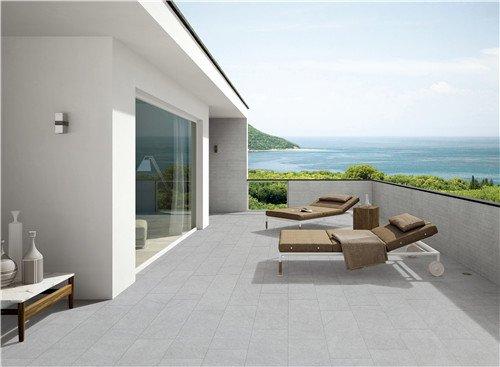 LONGFAVOR Natural stone White Full Body Porcelain Tile RC66R0E12W Natural Stone Style Full Body Tiles image10