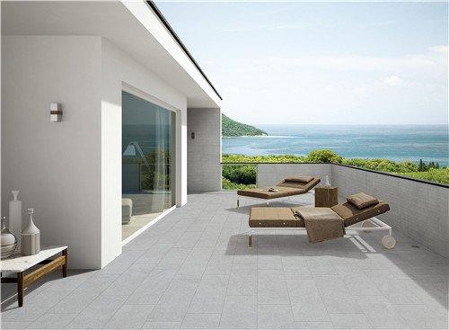 LONGFAVOR Natural stone Light Grey Full Body Porcelain Tile RC66R0E21W Natural Stone Style Full Body Tiles image13