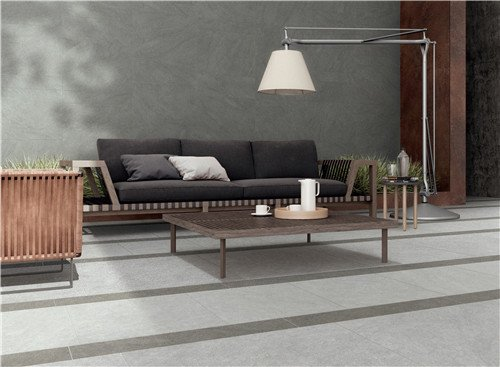 LONGFAVOR Natural stone Dark Grey Full Body Porcelain Tile RC66R0E61W Natural Stone Style Full Body Tiles image15