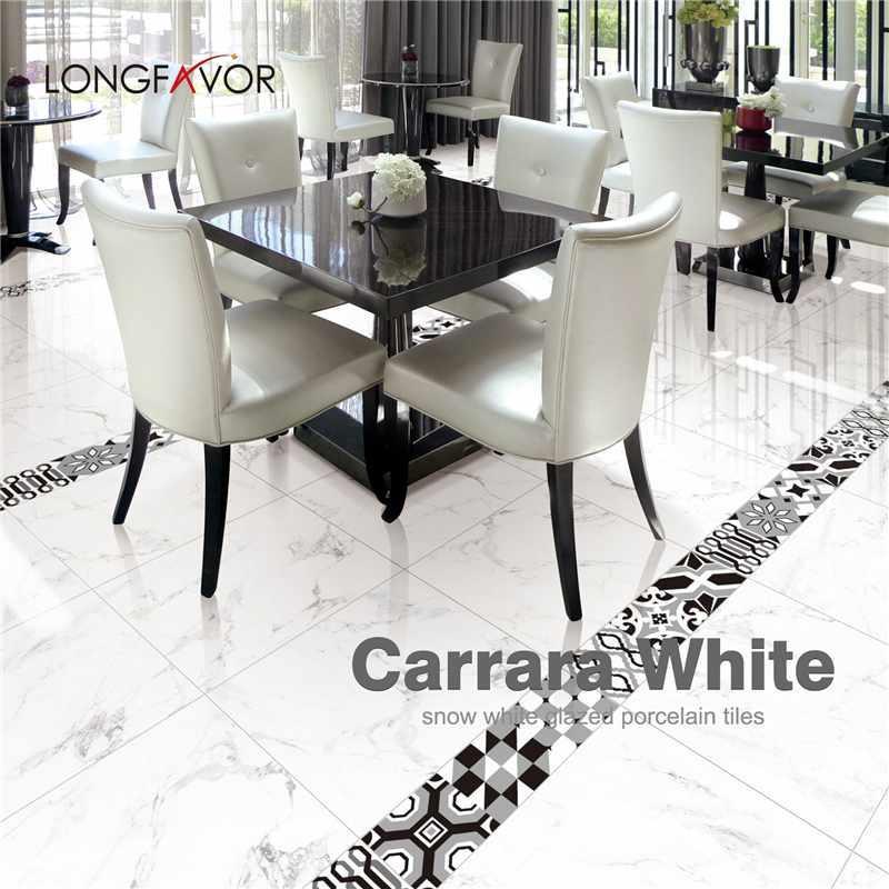 Carrara White Porcelain Floor Tiles