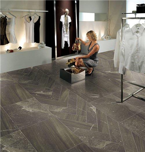 24''x24'' Dark Grey Rough Glaze Rustic Floor Tile JC66R0B02