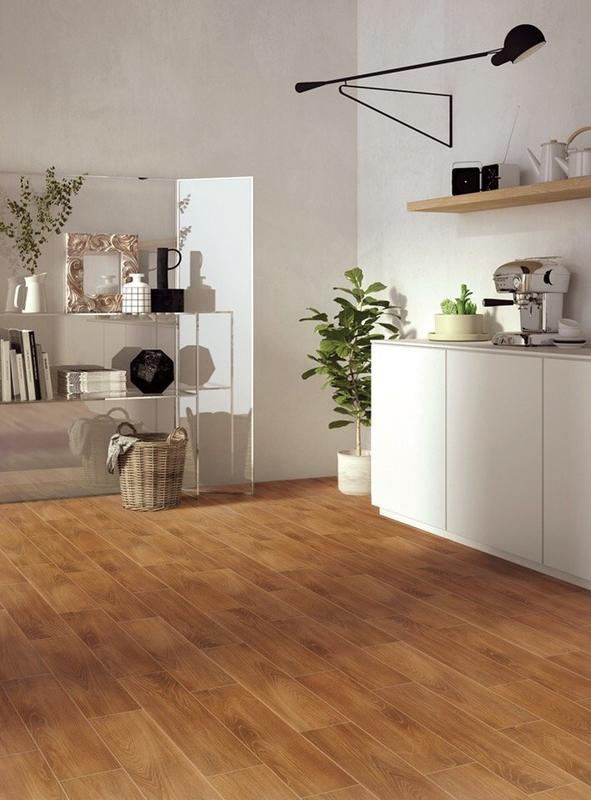 Room150X600mm Coffe Wood Style Wood Vein Imitate Faux Teak Wood Tiles DH156R6A13