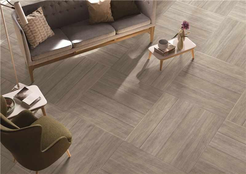 LONGFAVOR 150x600mm Room Matt Light Grey Wooden Ceramic Tile DH156R6A07 150x600mm Wood-look Ceramic Tiles image47