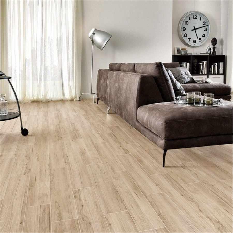 LONGFAVOR 6x24inch Brown Wood-look Ceramic Body Tile DH156R6A17 150x600mm Wood-look Ceramic Tiles image37