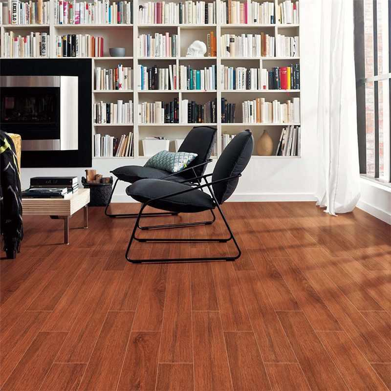 150x800mm Natural 3D Ink-jet Wood Flooring Brown Wood-look Ceramic Tile SZ158304-2