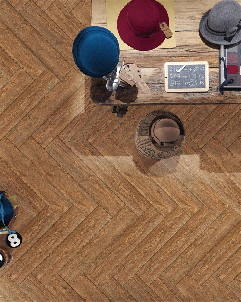 LONGFAVOR Brand brown kitchen surface ceramic tile flooring that looks like wood outdoor