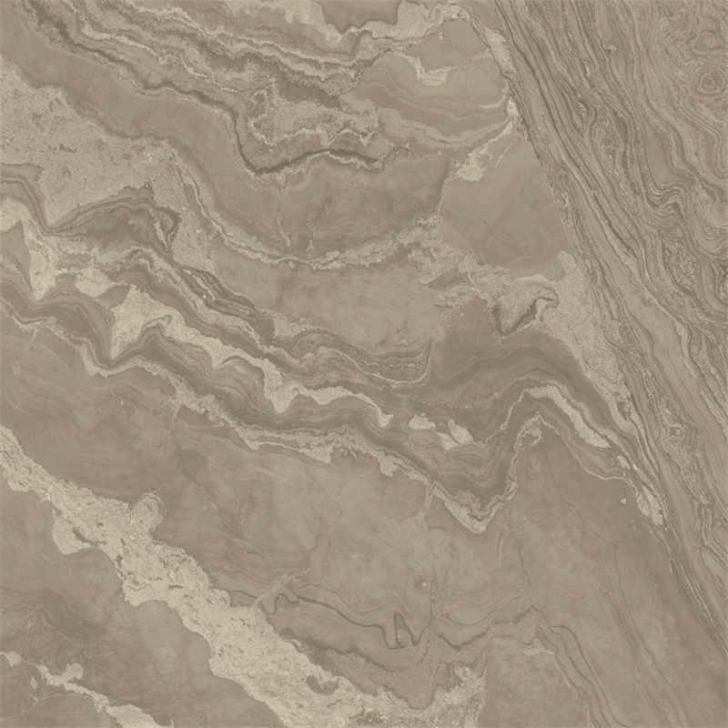 Brown Color 60x60 / 80X80 Soft Polished/ Polished Finish Marble Look Tiles SJ66G0C07