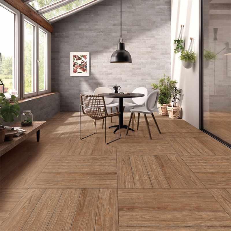 LONGFAVOR 150x800mm Bathroom floor or wall  Brown Wood-look Ceramic Tile P158035M 150x800mm Wood-look Ceramic Tiles image30