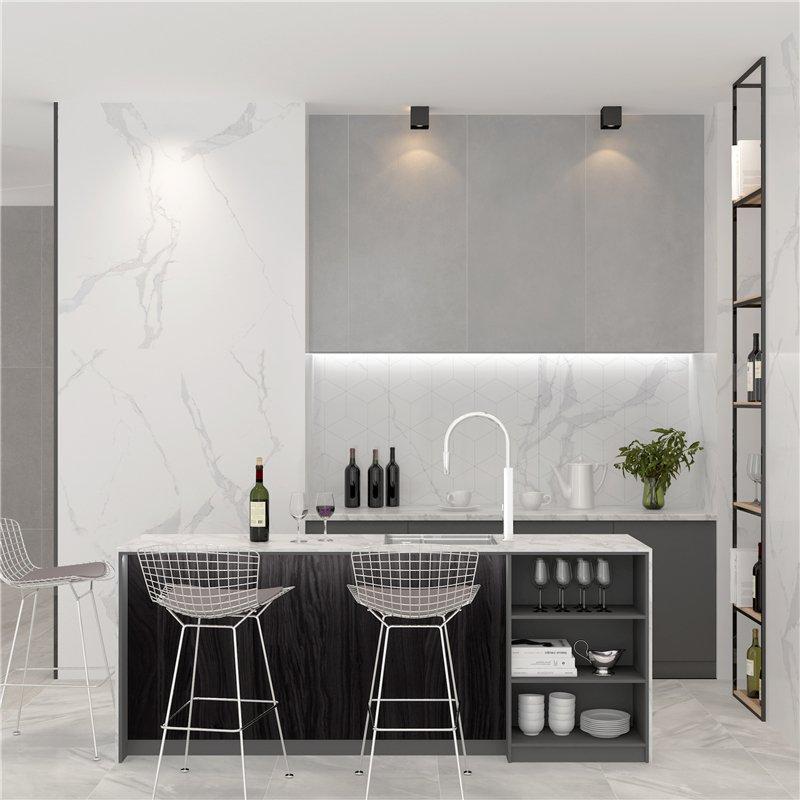 LONGFAVOR 2018 Popular Carrara Design Glazed Porcelain 60x120 tiles for floor FQ612G0A02 60X120CM Glazed Porcelain Floor Tile image5