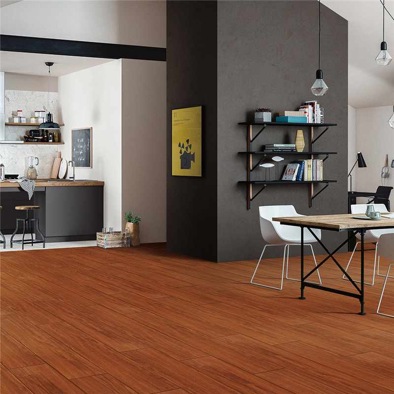 LONGFAVOR 150x800mm Natural Room Brown Wood-look Ceramic Tile P158152 150x800mm Wood-look Ceramic Tiles image28