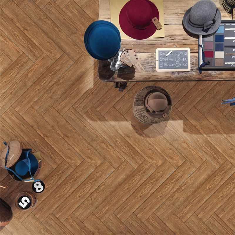 LONGFAVOR 150X800 Brown Wooden Ceramic Tile P158012M 150x800mm Wood-look Ceramic Tiles image14