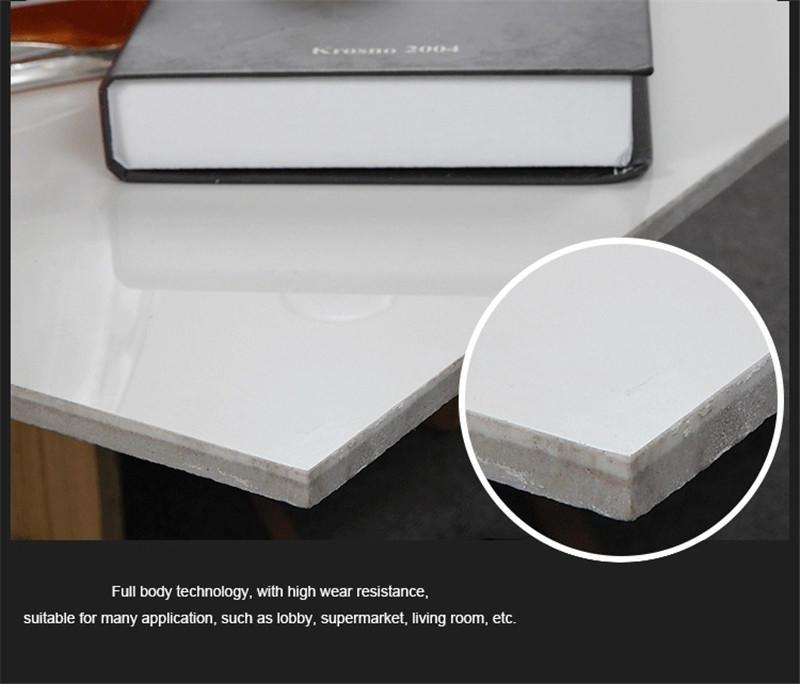 carrara Custom 80 grey white polished porcelain tiles LONGFAVOR pebble
