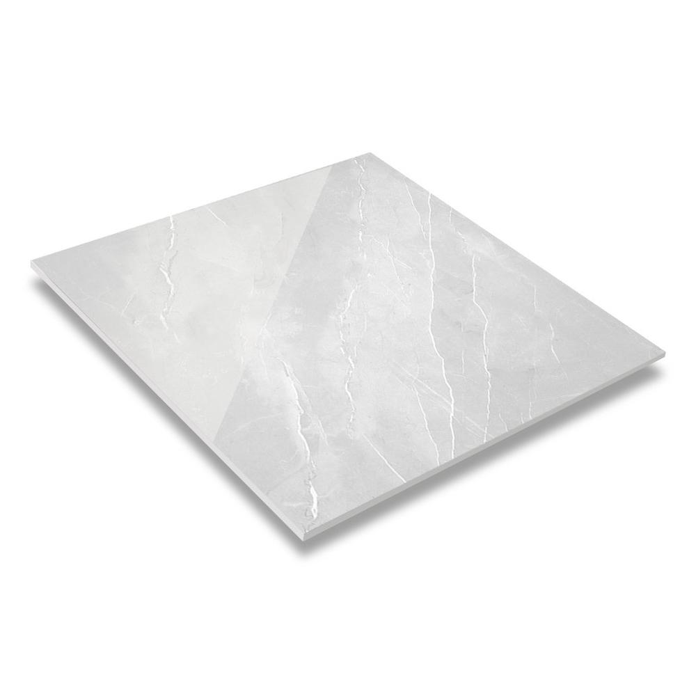 32''x32'' Light Grey Color Harder Marble  Diamond Glazed Porcelain Floor Tile DN88G0C18
