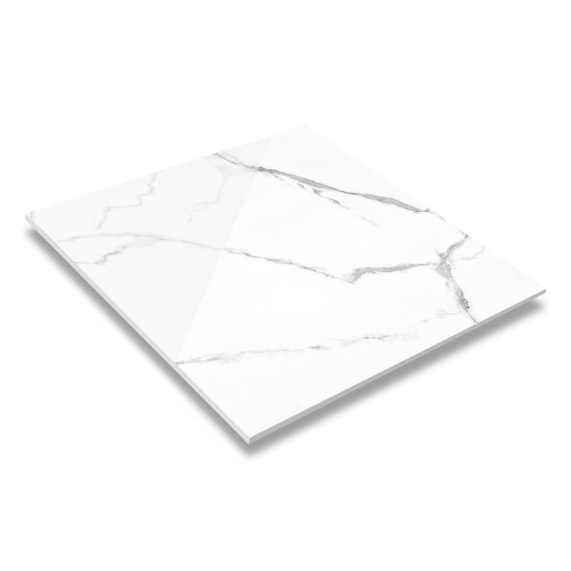 32''x32'' Snow White Marble Diamond Glazed Porcelain Floor Tile DN88G0C011