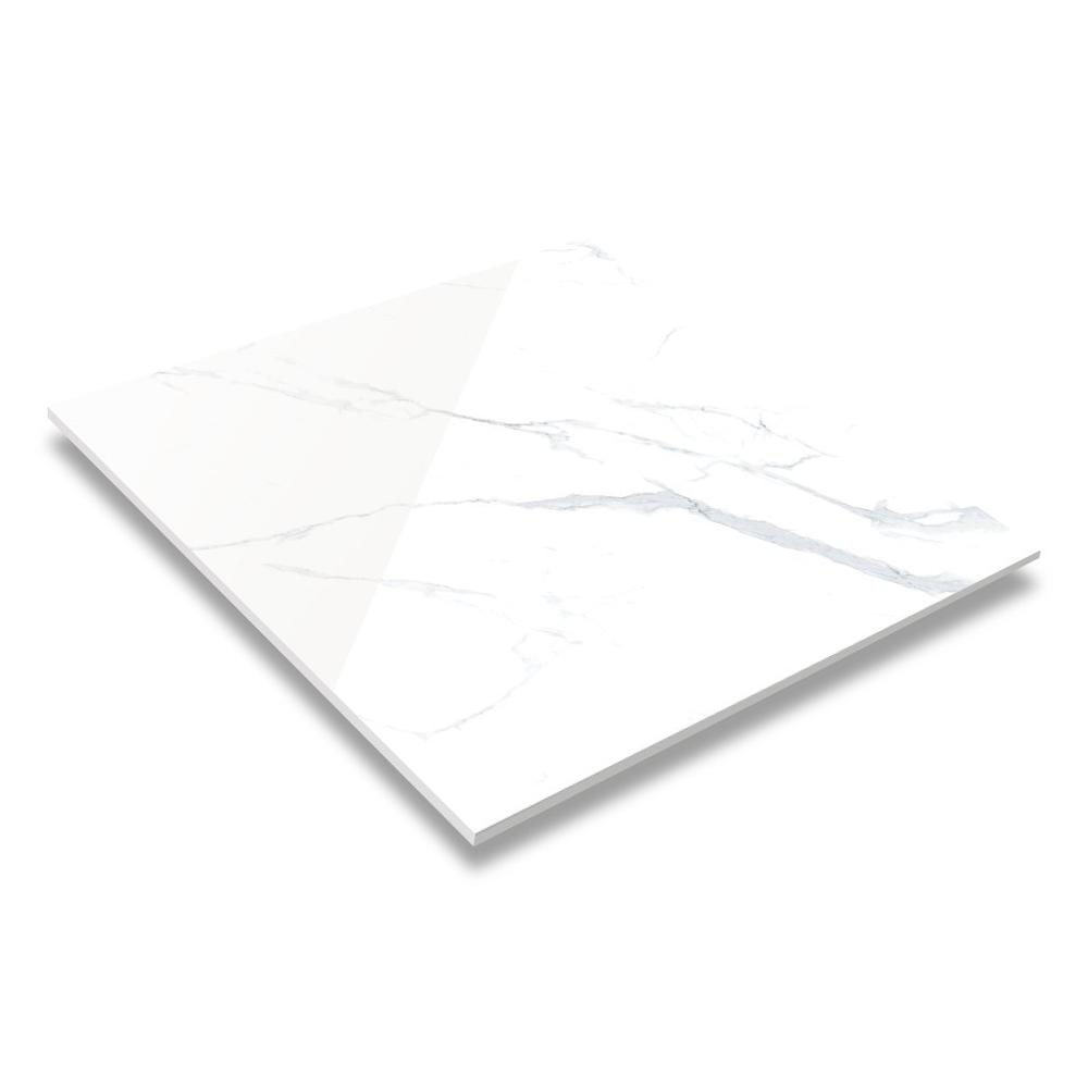 60x60 / 80X80 Carrara White Color Bathroom Floor Tile Soft Polished/ Polished Finish Marble Look Tiles GR60100QM/RM
