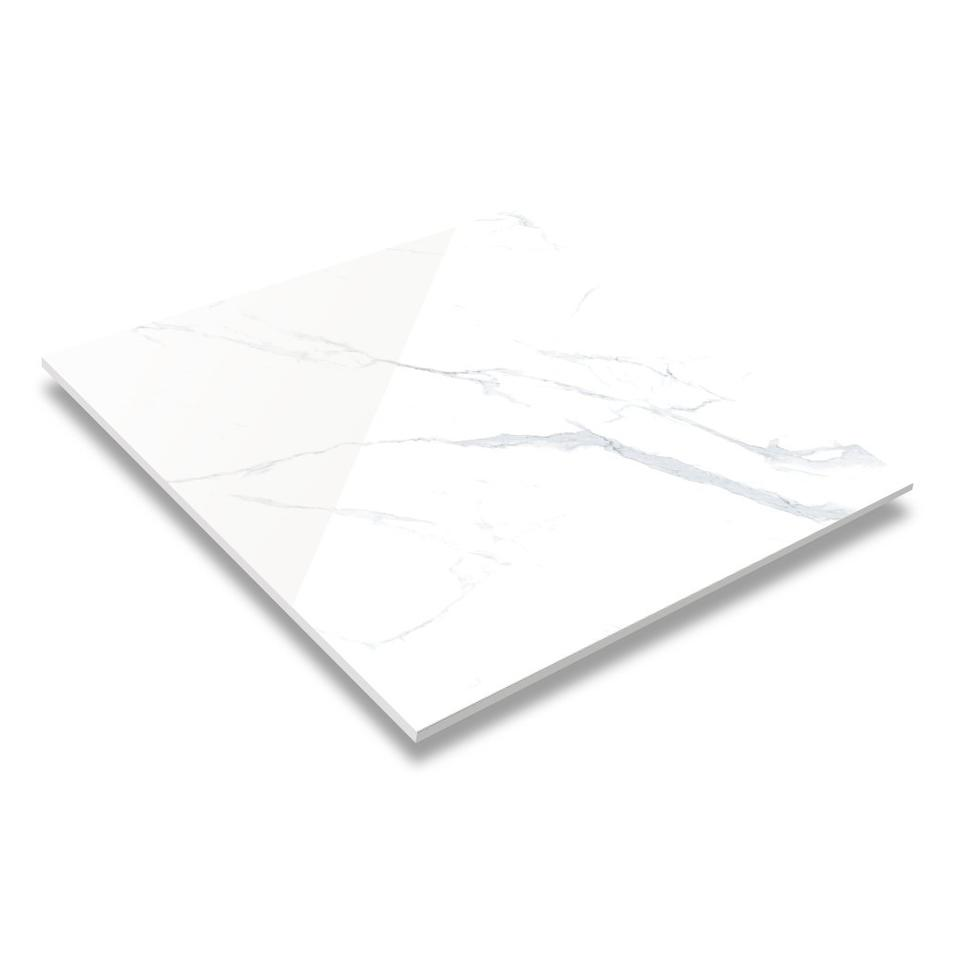60x60 / 80X80 Carrara White Color Bathroom Floor Tile Soft Polished/ Polished Finish Marble Look Tiles GR60100QM/RM