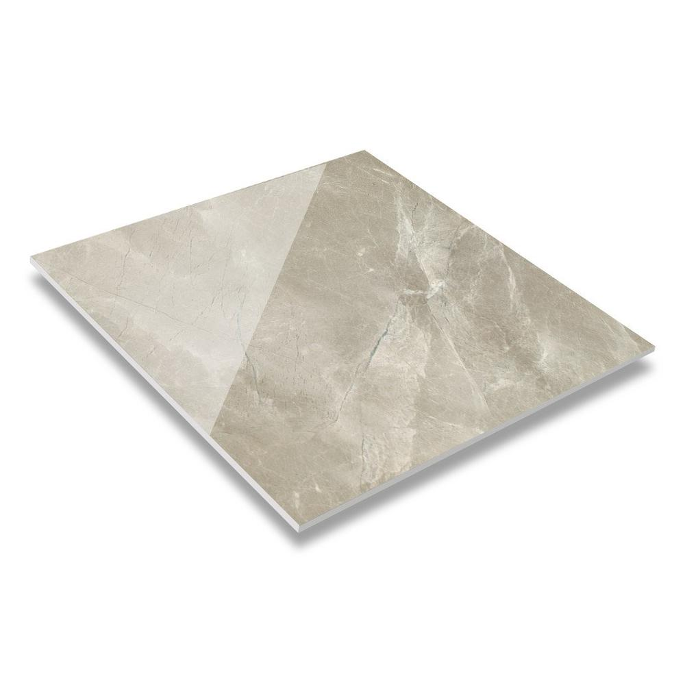 60 & 80 Tino Marble Light Grey Soft polished & Glossy Glaze Marble Tile GR60095QM(RM)