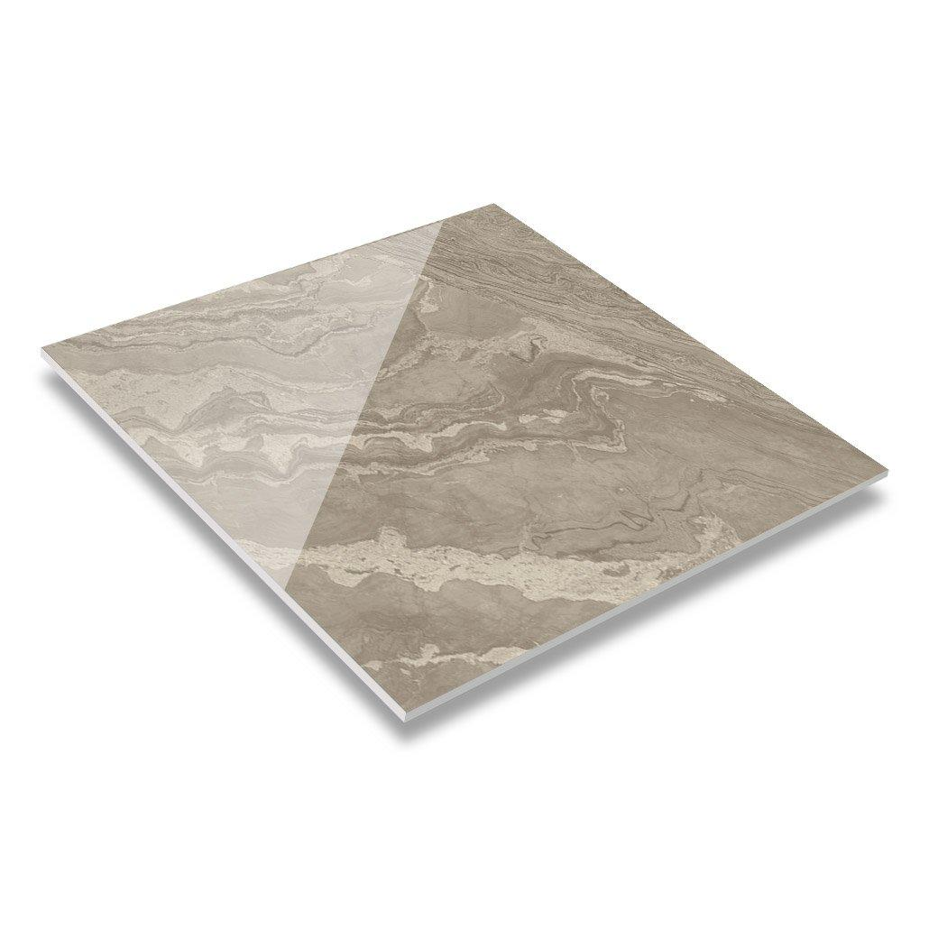 Brown Color 60x60 / 80X80 Soft Polished/ Polished Finish Marble Look Tiles GR60101QM(RM)