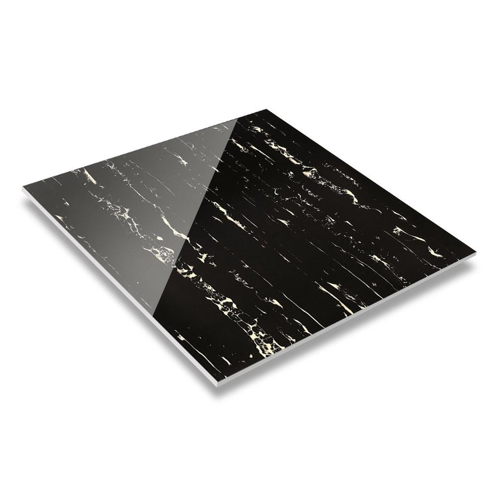 60X60/800X800 Black Marble White Veins Porcelain Tile D606