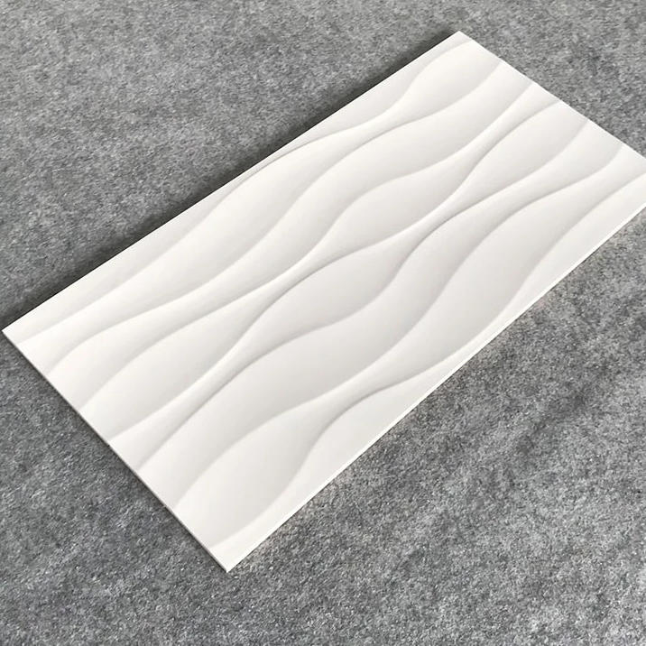 2-36B1070 White Wave Carrara Wall Tile