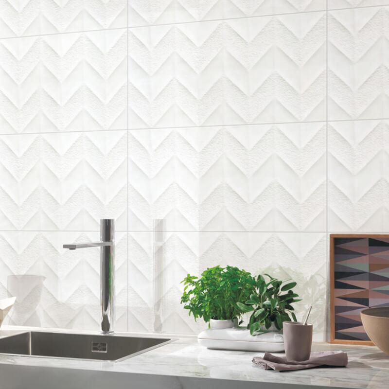 LONGFAVOR wave White Wave Carrara Wall Tile bulk production Walls-3